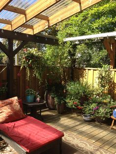 Many of the Catios were very simple affairs that let cats come outside through a window and climb around in a 6 x 4 cats only enclosure. Description from landscape-design-in-a-day.com. I searched for this on bing.com/images