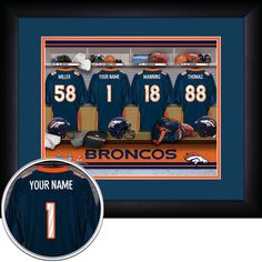 Use the code PINFIVE to receive an additional 5% discount off the price of the Denver Broncos NFL Personalized Locker Room Print at SportsFansPlus.com