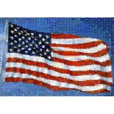 American Flag Canvas Art - Panoramic Images (18 x 12)