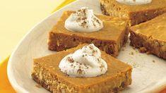 Pumpkin Pie Alternative: The Amish Cook's Pumpkin Pie Squares...