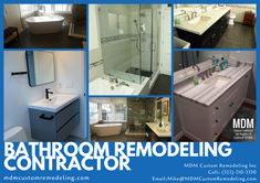 MDM Custom Remodeling Inc is an ideal destination for hiring a bathroom remodeling contractor in Los Angeles. You can schedule a FREE consultation with us for any remodeling project. Bathroom Remodeling Contractors, Home Improvement Projects, Schedule, Free, Design, Timeline, Home Projects