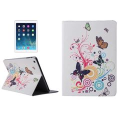 For+iPad+Air+Musical+Butterfly+Pattern+Smart+Cover+PU+Leather+Case+with+Card+Slots