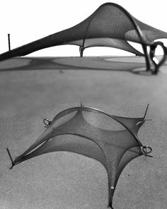 Whilst at university I did a small research project into the tensile structures by Frei Otto. I made numerous tensile structures of my . Architecture Model Making, Pavilion Architecture, Architecture Drawings, Concept Architecture, Amazing Architecture, Architecture Details, Fabric Structure, Roof Structure, Shade Structure