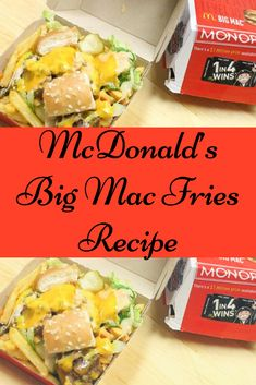 What could be better than a McDonald's Big Mac with a side of fries? You may think nothing, until you try that Big Mac chopped up and tossed with those fries. Air Fryer French Fries, French Fries Recipe, Famous French, Big Mac, Restaurant Recipes, Tossed, Mcdonalds, Meal Prep, Meals