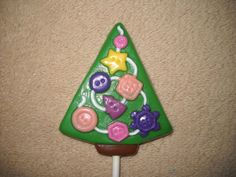 1 Chocolate Christmas lalaloopsy sewing seamstress button treeLollipops Lollipop #castlerockchocolatessapphirechocolates
