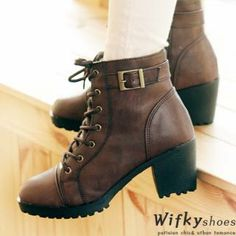 Lace-Up Faux-Fur Lined Boots from #YesStyle <3 Wifky YesStyle.com