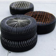 Happy Hardcore - seating made from recycled tires.  http://www.greendiary.com/happy-hardcore-amazing-seating-cushions-tires.html