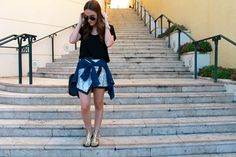 #fashion #blogger #fashionblogger #stylebytwo #python #nordstromBP #alxboutique #skirt #stevemadden #gladiators #lush #zara #rayban #michellewatch #davidyurman