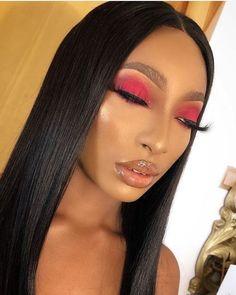 2019 Beautiful Makeup Samples for Black Women - Naija's Daily Makeup Eye Looks, Creative Makeup Looks, Cute Makeup, Gorgeous Makeup, Pretty Makeup, Simple Makeup, Glam Makeup, Hair Makeup, Makeup Eyeshadow
