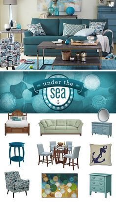 Create a beach house even in the city with our breezy, relaxing Under the Sea collection!