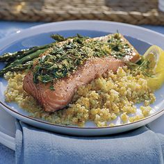 Lemon-Grilled Salmon - Great Grilled Seafood Recipes - Southern Living