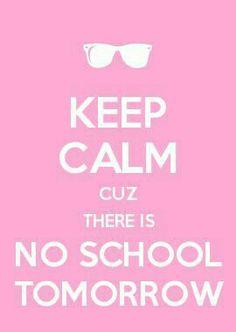 Niente scuola domani!!