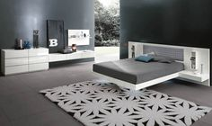Double bed / floating / contemporary / bed-side table ALADINO UP Alf Uno