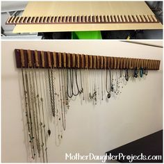 Clothespin Jewelry Hanger