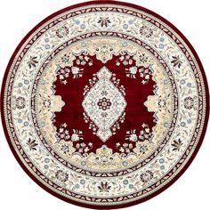 Unique Loom Windsor Narenj Vintage Medallion Area Rug or Runner Synthetic Rugs, Round Area Rugs, Rug Material, Rugs Online, Animals For Kids, Beige Area Rugs, Colorful Rugs, Rug Size, Burgundy