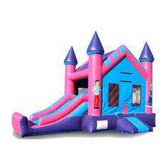 EZ Inflatables 22 ft. Mini Princess Combo Bounce House - C174
