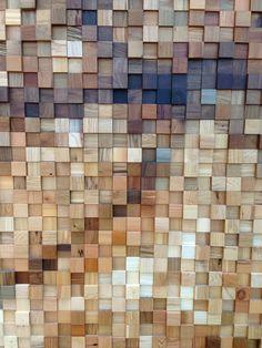 Wood pixel wall