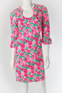Katherine Way Collections - Naples Dress Waves Kelly/Pink, $117.00 (http://www.katherineway.com/naples-dress-waves-kelly-pink/)