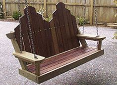 Free woodworking plans - swing seat plans and projects