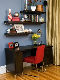 Contemporary Home-offices from Kimball Starr on HGTV