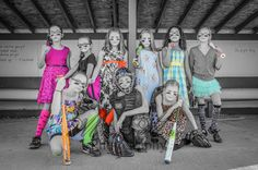 Team, Dresses and softball in the dugout