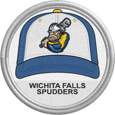 Wichita Falls Spudders hat - baseball cap - MiLB - Pecos League - Minor League Baseball - Created by John Majka