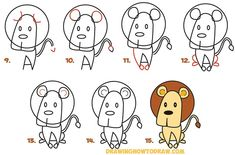 How to Draw Cartoon Characters Step by Step (30 Examples)