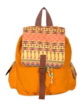 Tribal print cotton canvas backpack - Online Shopping for backpacks