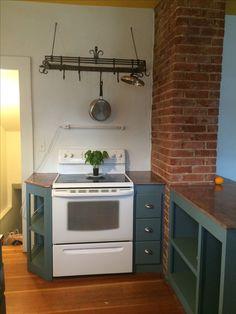 Kitchen Corner Wall Exposed Brick Ideas For 2019 Kitchen Corner, Kitchen Reno, New Kitchen, Kitchen Remodel, Kitchen Design, Kitchen Ideas, Kitchen Inspiration, Ikea Hacks, Kitchen Chimney