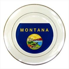 New Jersey Porcelain Plate w/ Display Stand - American Home States ...