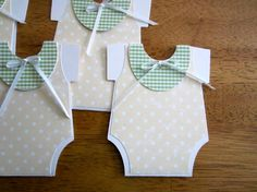 Handmade Baby Shower Invitation  Onesie Shape by YesYouAreInvited, $2.75