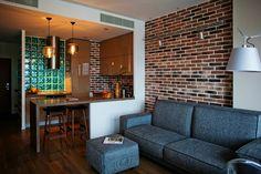Kitchen in Small Apartment - Interior Design & Home Decorating Ideas Loft Interior, Small Apartment Interior, Apartment Design, Interior Design, Tyni House, Living Room Decor, Living Spaces, Cuisines Design, Design Case