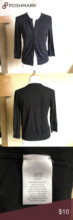 Black cardigan size small Black cardigan size small Cable & Gauge Sweaters Cardigans