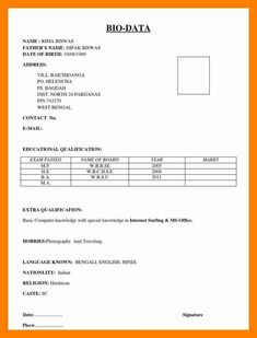 Great Basic Resume Bio Data 46 With Additional Interior Decor Home with Basic Resume Bio Data : Resume Resume Format For Freshers, Resume Pdf, Invoice Format, Sample Resume Format, Basic Resume, Job Resume Template, Resume Format Free Download, Biodata Format Download, Marriage Biodata Format