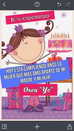 Feliz cumpleaños Birthday Images, Birthday Cards, Happy Birthday Quotes, Happy B Day, Gift Quotes, Special Day, Motivational Quotes, Birthdays, Humor