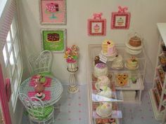 """My new little bakery is complete.   It's """"A Little Slice of Heaven"""" Bakery.   Take a look around...                     My daughter design..."""