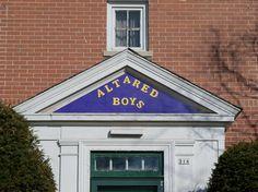 Sign for the Altared Boys house in Oxford, Ohio. Miami University, Ohio, Oxford, Sign, Boys, Baby Boys, Columbus Ohio, Signs, Senior Boys