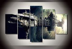 Style Your Home Today With This Amazing 5 Panel Spacecraft Framed Wall Canvas Art For $99.00  Discover more canvas selection here http://www.octotreasures.com  If you want to create a customized canvas by printing your own pictures or photos, please contact us.