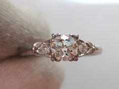 1950's engagement ring 1950s Engagement Ring, Platinum Engagement Rings, Wedding Stuff, Dream Wedding, Wedding Rings, I'm Single, Aisle Style, Wedding Inspiration, Wedding Ideas