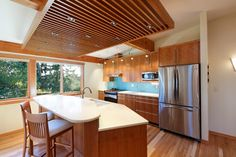 cherry cabinets.  Contemporary Whole Home Remodel - contemporary - kitchen - other metro - Corvallis Custom Kitchens and Baths