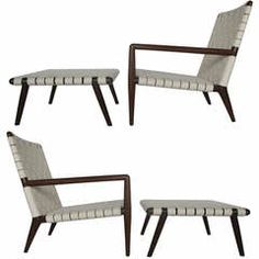 A Pair of T.H.Robsjohn-Gibbings Classic Long Arm Chairs