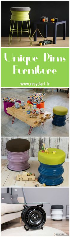 #Custom, #Design, #Diy, #Eco, #Furniture, #Recycle, #Rims, #Upcycle Hello, I'm Milena, I'm a young designer and I love recycling. I'm part of MP PROJECT from Poland. We revive old items to new lives. This is what we do with the old materials. MP PROJECT company products furniture made of car parts and recyclable