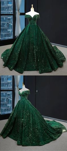 Real Picture Dark Green Sequins V Neck Sweep Train Formal Prom Dress, Special Occasion Dress, Shop plus-sized prom dresses for curvy figures and plus-size party dresses. Ball gowns for prom in plus sizes and short plus-sized prom dresses for Quince Dresses, Dresses Uk, Ball Dresses, Pretty Dresses, Chiffon Dresses, Long Dresses, Robes D'occasion, Fantasy Gowns, Medieval Dress