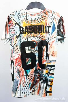 #Streetart #Basquiat #Eleven Paris Cool Tees, Cool T Shirts, Tee Shirts, Cool Outfits For Men, Types Of T Shirts, Painted Clothes, Outfit Grid, Custom Clothes, Printed Shirts