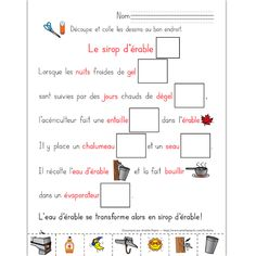 Le sirop d'érable Amelie Pepin, Core French, French Classroom, French Resources, Teaching French, Winter Activities, Classroom Organization, School Days, Social Studies