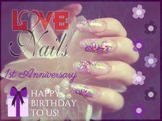 #LOVENails festeggia con voi il suo primo #anniversario: tanti #auguri di buon #compleanno a noi, ma soprattutto #GRAZIE a voi, che ci accompagnate ogni giorno in questa splendida avventura, tra arte e passione! Perché noi amiamo le nostre #unghie... e anche voi!!!  www.rdcosmetic.com #nailart #onicotecnica #naildesign #nails #beauty