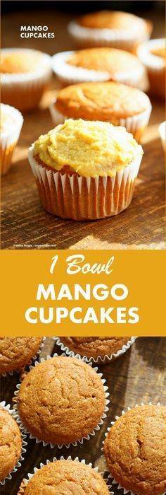 One Bowl Vegan Mango Cupcakes. Easy Mango Cupcake or Cake Recipe. Whisk up the dry ingredients. Add in mango puree and… One Bowl Vegan Mango Cupcakes. Easy Mango Cupcake or Cake Recipe. Whisk up the dry ingredients. Add in mango puree and… Mango Cupcakes, Mango Cake, Vegan Cupcakes, Vegan Cake, Tropical Cupcakes, Brownie Desserts, Oreo Dessert, Just Desserts, Party Desserts