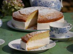Veganer Zitronenkuchen mit Vanille-Creme
