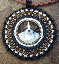 Beaded Jack Russell Dog Necklace Pendant