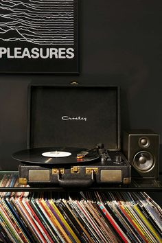 Crosley X UO Cruiser Briefcase Portable Vinyl Record Player - Urban Outfitters music Vinyl Record Storage Shelf Vinyl Record Storage Shelf, Record Rack, Record Record, Vinyl Shelf, Record Display, Lp Storage, Table Storage, Record Player Urban Outfitters, Vinyl Platten